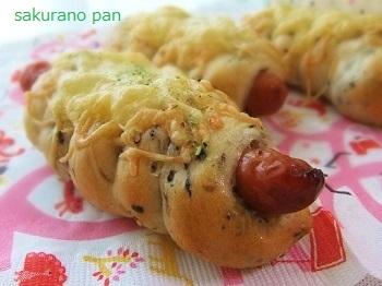 簡単手作りパン「ごまソーセージパン」レシピ
